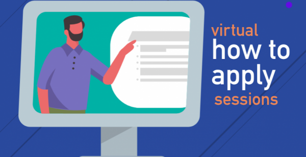 Image of person providing a virtual how to apply session